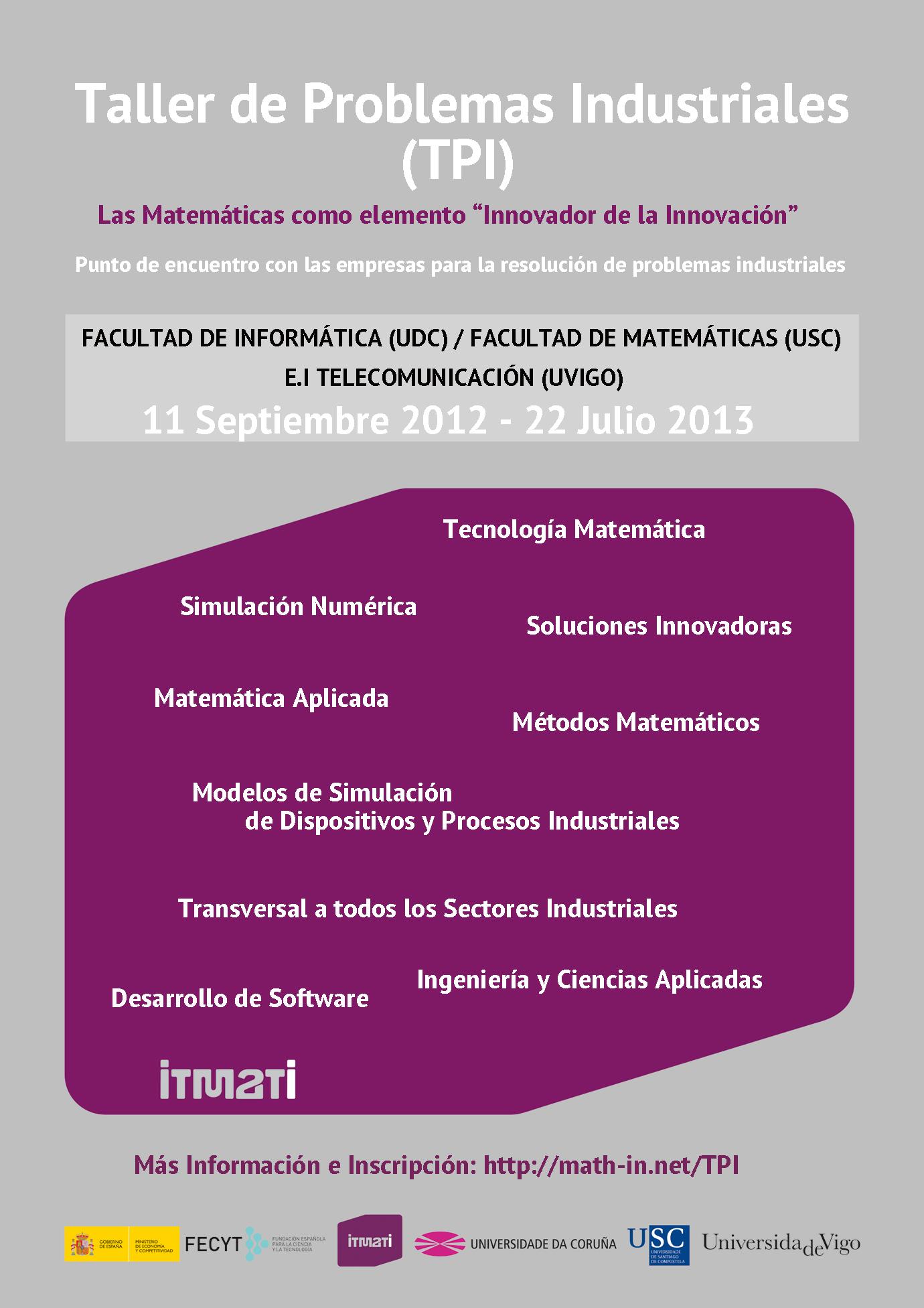 Taller Industrial Matematicas Industria