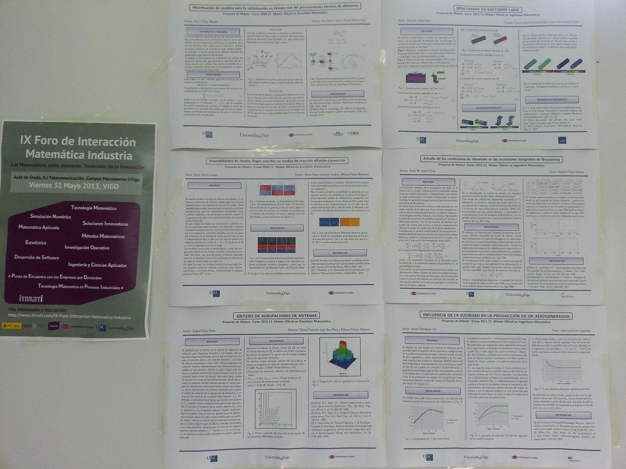 posters estadistica matematica industrial