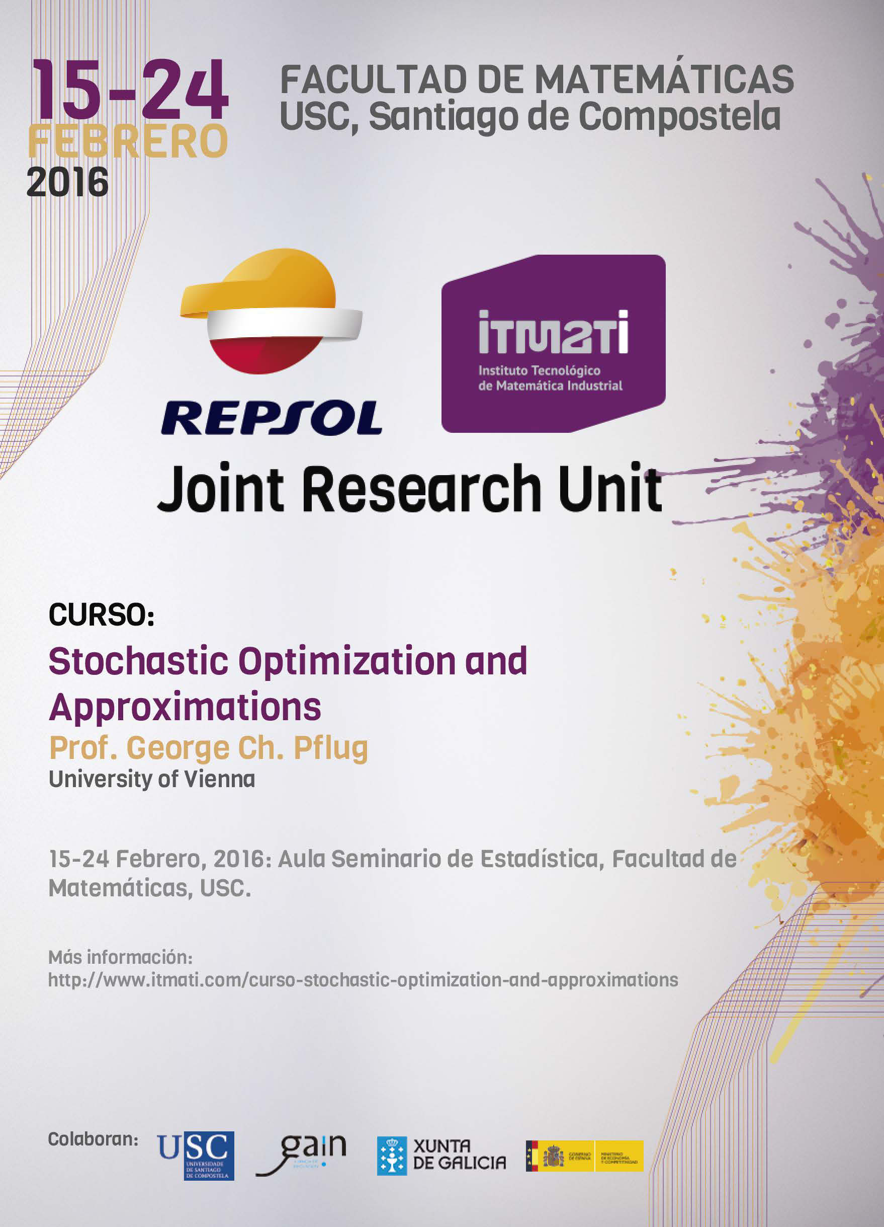 itmati, repsol, curso Stochastic optimization and approximations