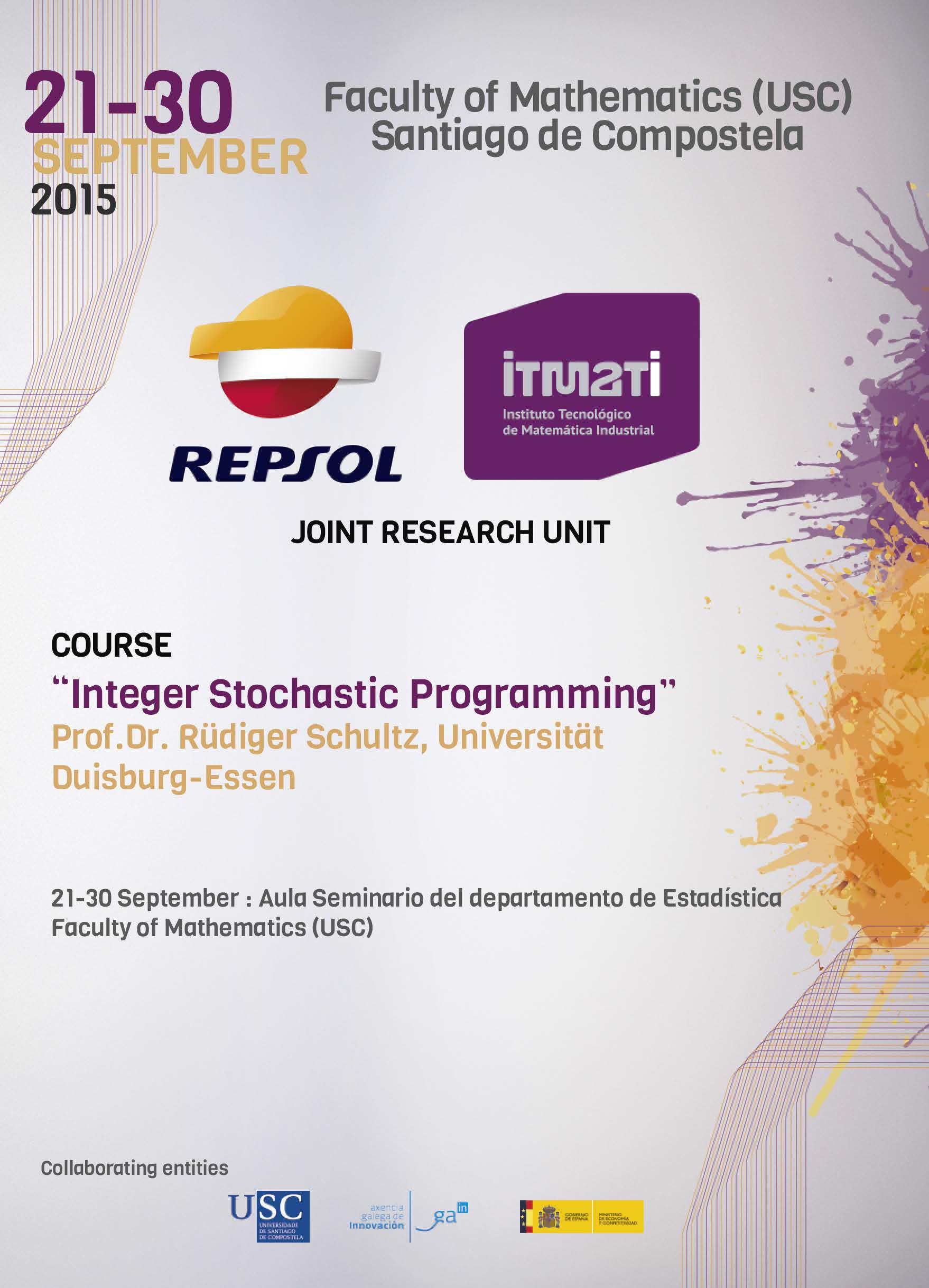 UMI, JRU, unidad mixta de investigación, ITMATI, integer stochastic programming